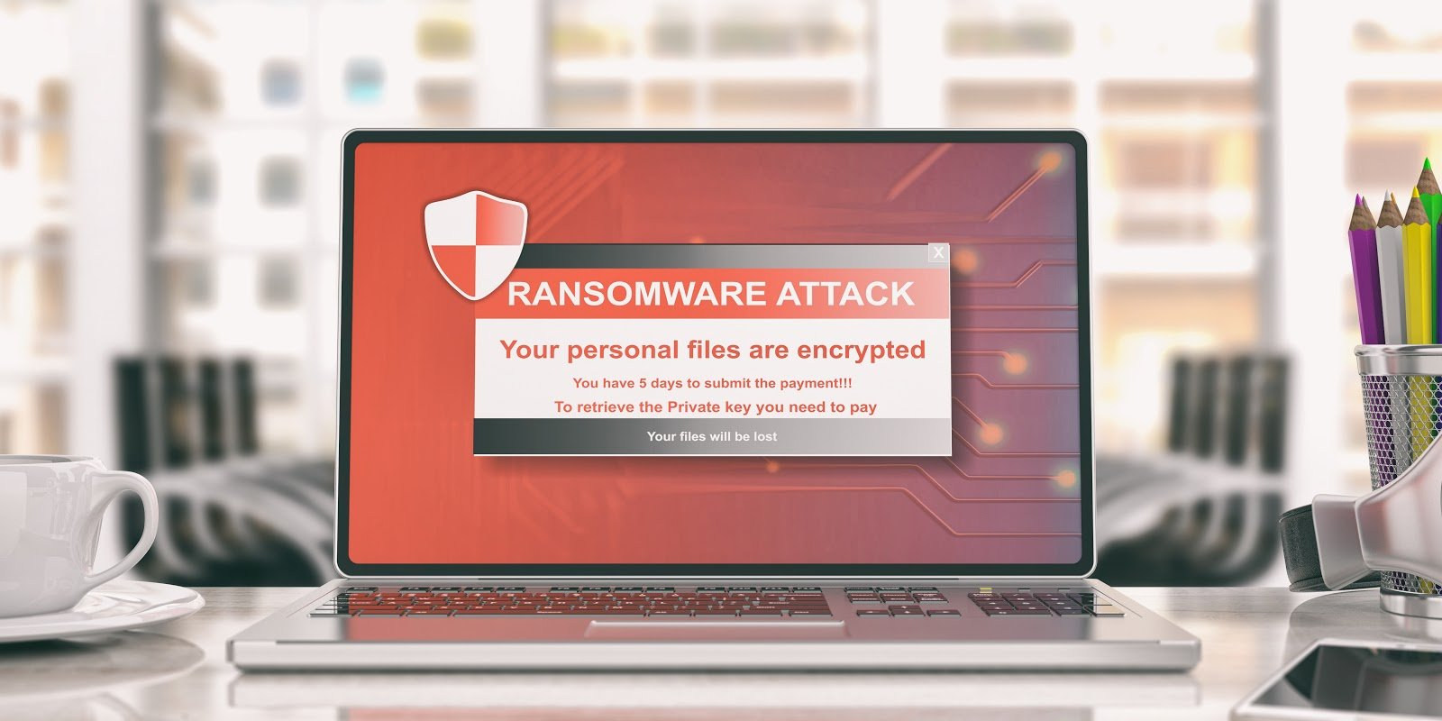Ransomware attack warning